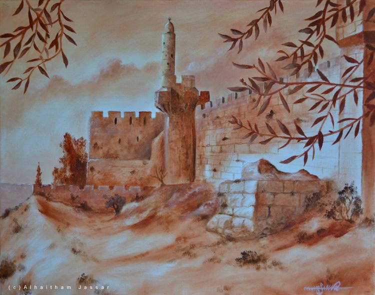 Jerusalem's Walls | Oil on Canvas