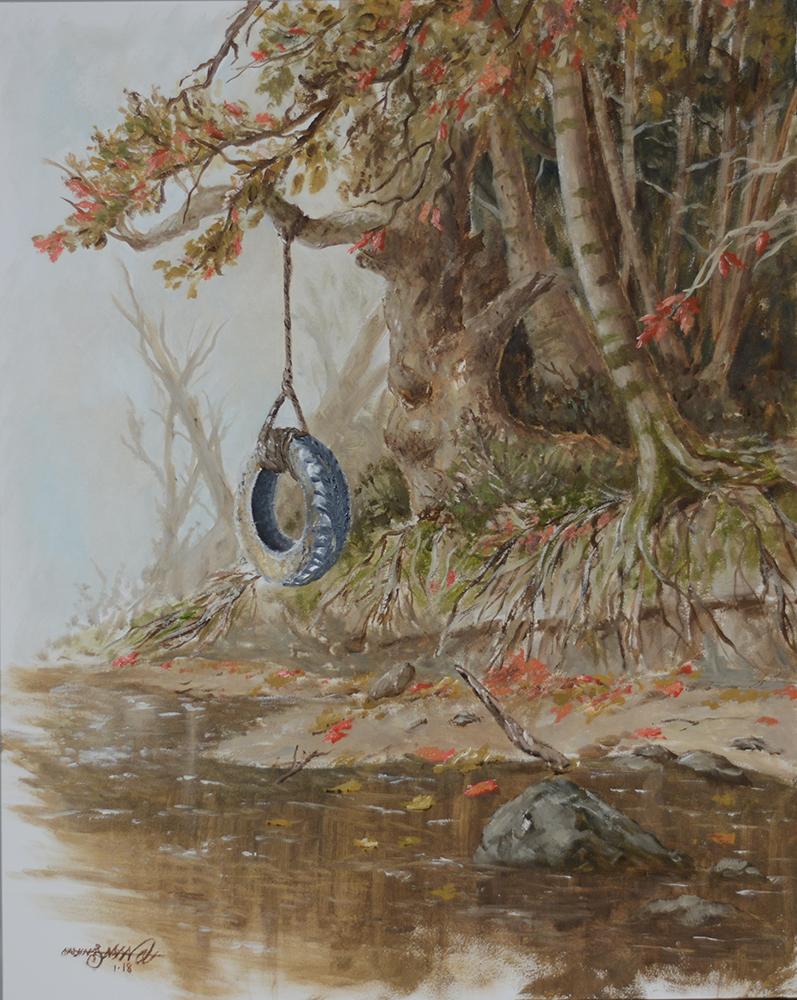 River Bank Swing | Oil on Panel