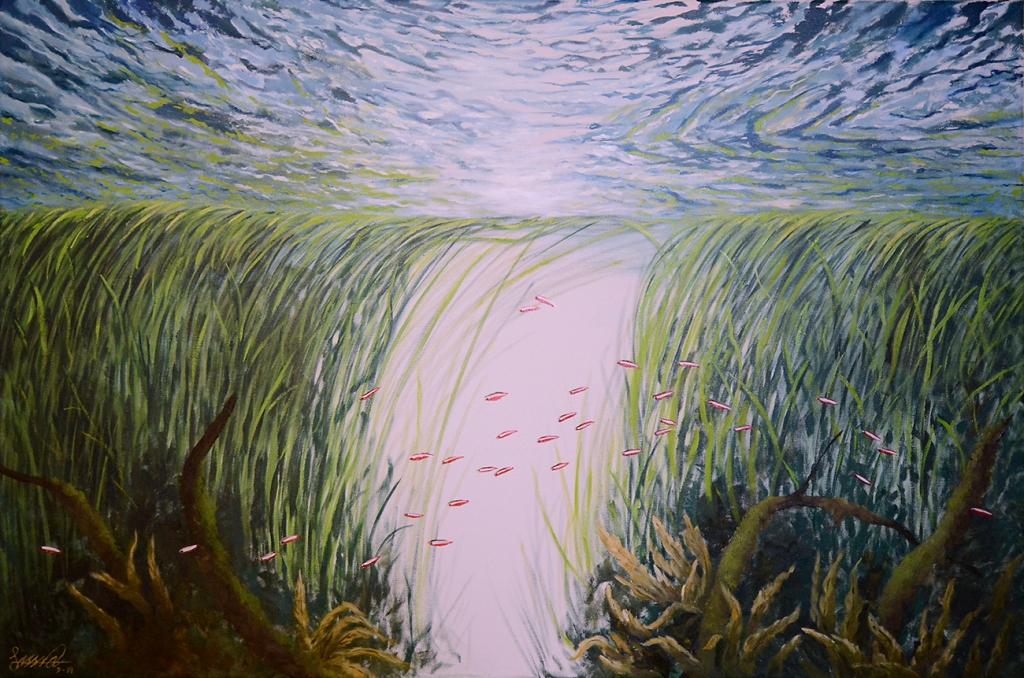 Cardinal Stream | Oil on Canvas