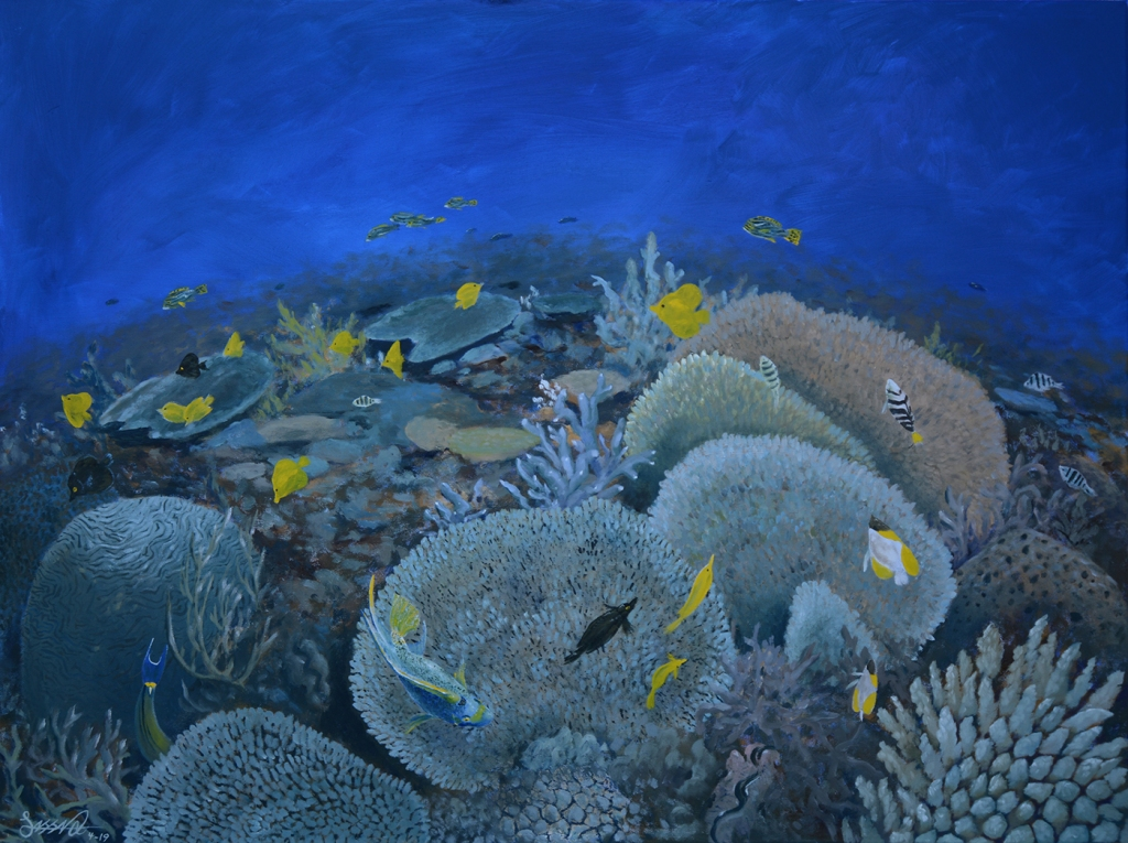 Blue Reef | Oil on Canvas