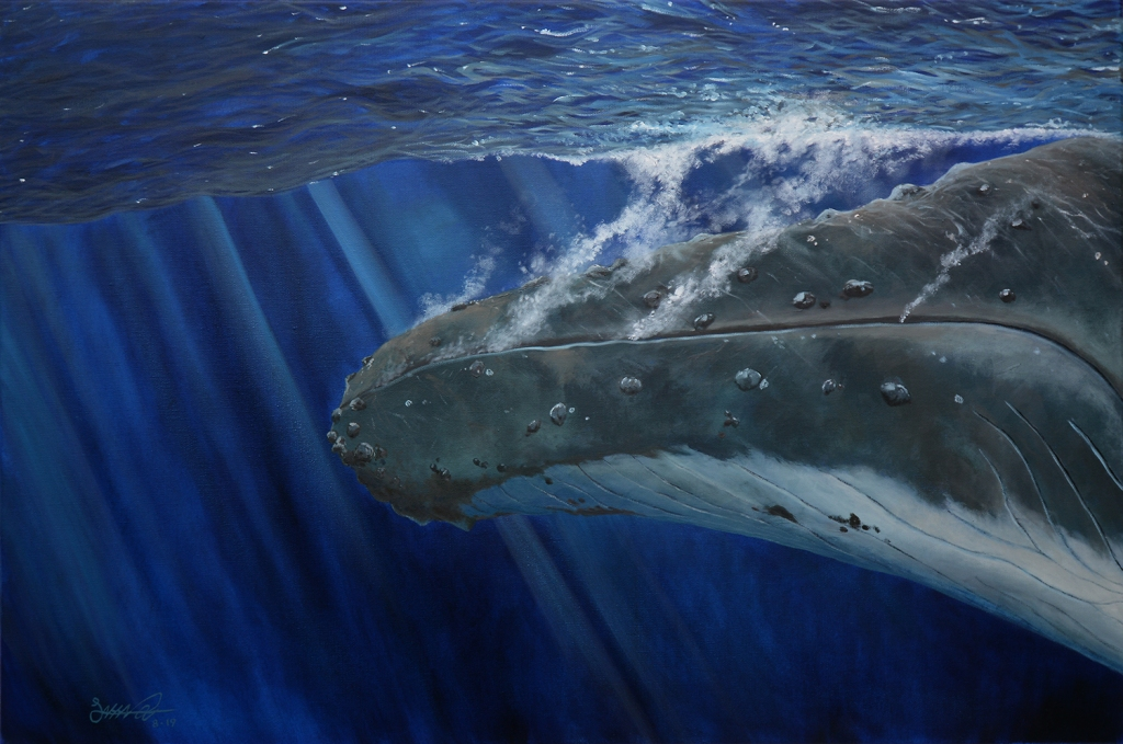 A Humpback's Plunge | Oil on Canvas
