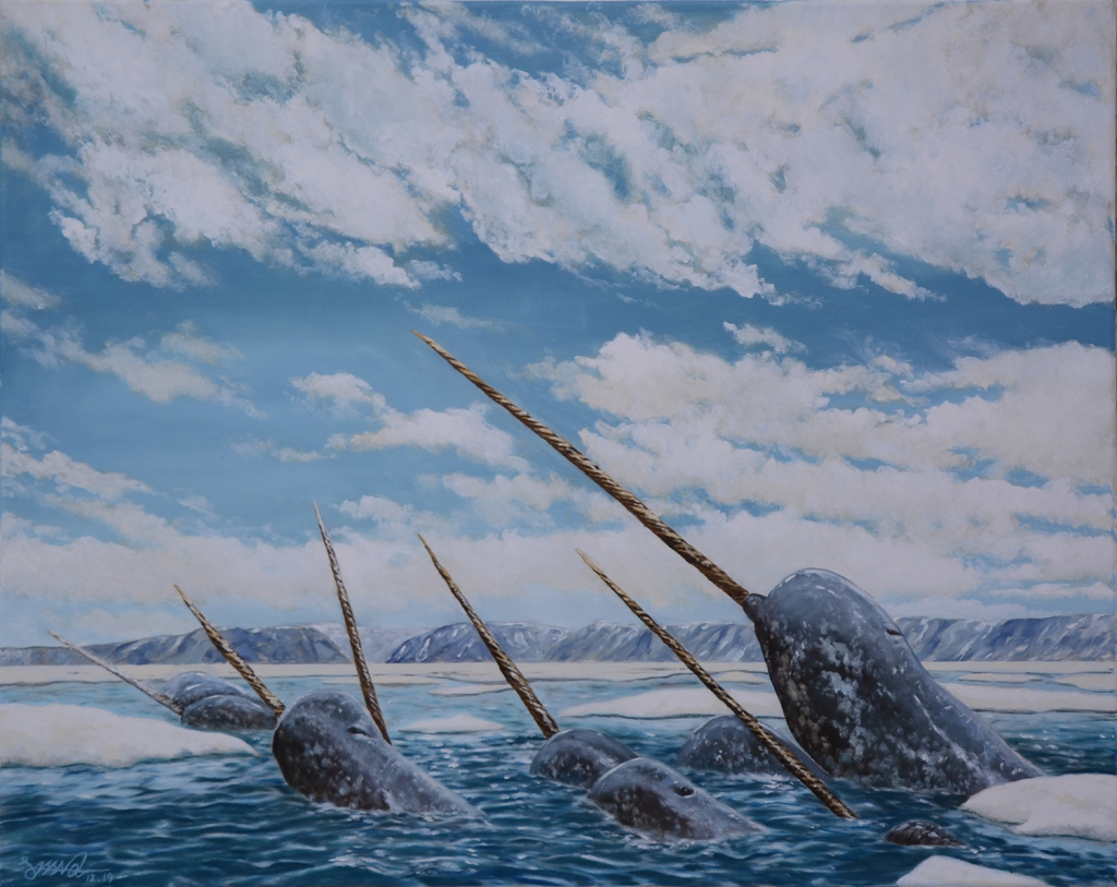 Narwhal Pod | Oil on Canvas