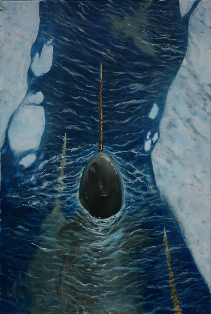 Narwhal's Journey | Oil on Canvas